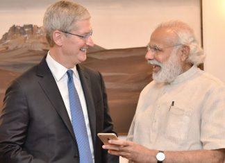 Tim Cook and PM Modi