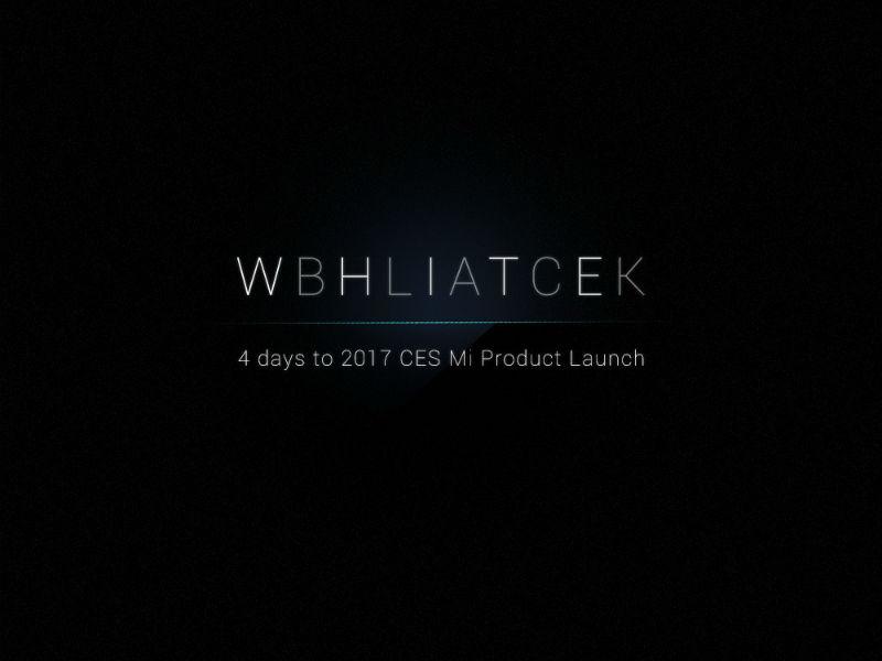 Xiaomi Mi Mix White CES 2017 teaser
