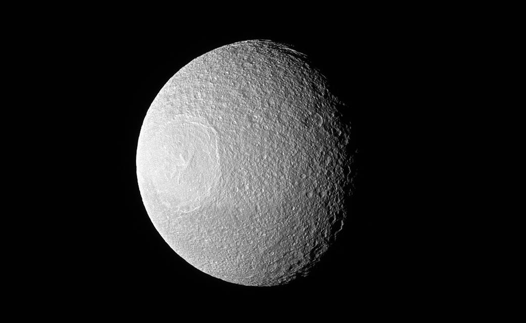 Watch this breathtaking image of Tethys captured by NASA Cassini spacecraft