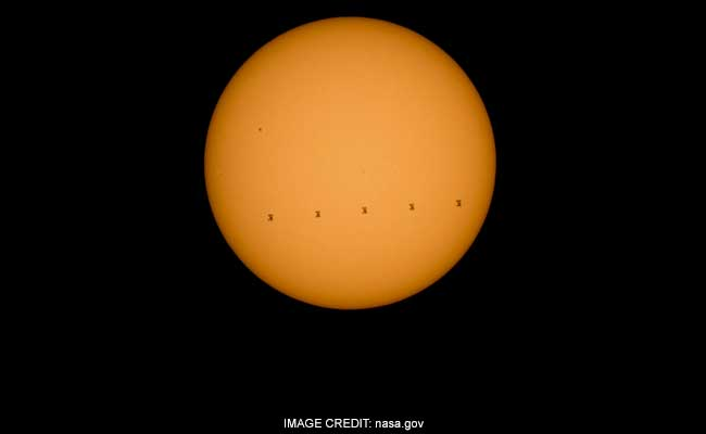 NASA shares breathtaking image of International Space Station crossing Sun 3000 kmph