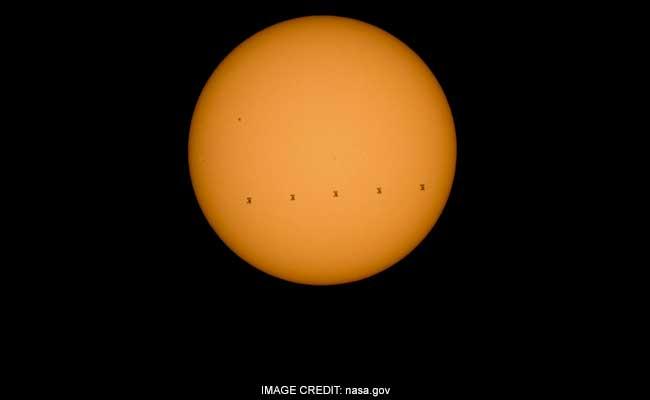 NASA shares breathtaking image of International Space Station crossing Sun 3000 kmph