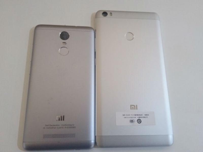 Xiaomi Redmi Note 3 and Mi Max