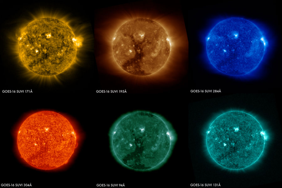 NOAA's solar observatory sends its first image of mysterious solar activity on Sun