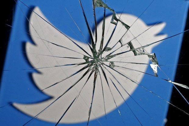 twitter logo shatterg glass