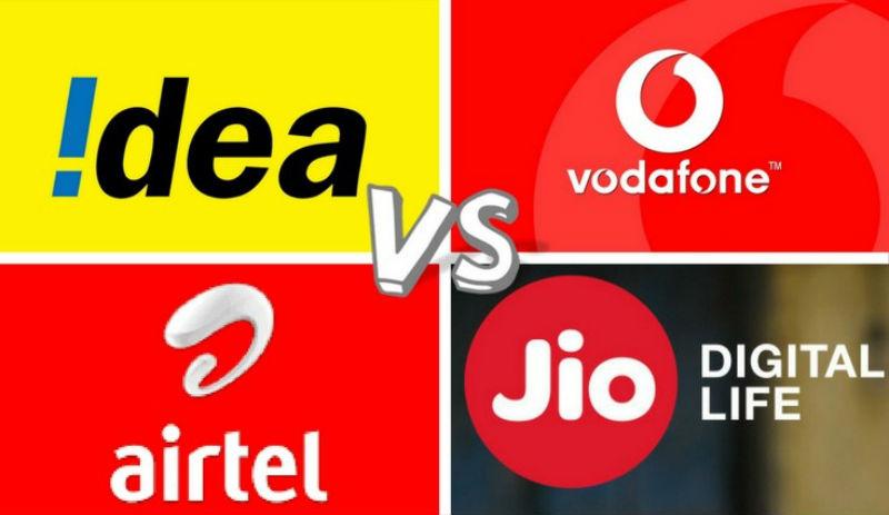 Reliance Jio Vs Airtel Vs Vodafone Vs Idea