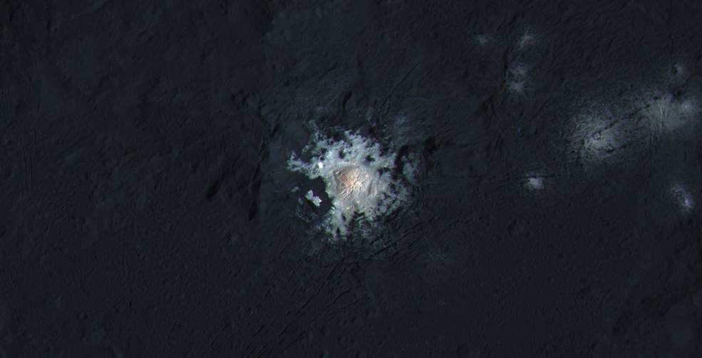Dawn data reveals the age of mysterious bright spot on dwarf planet Ceres