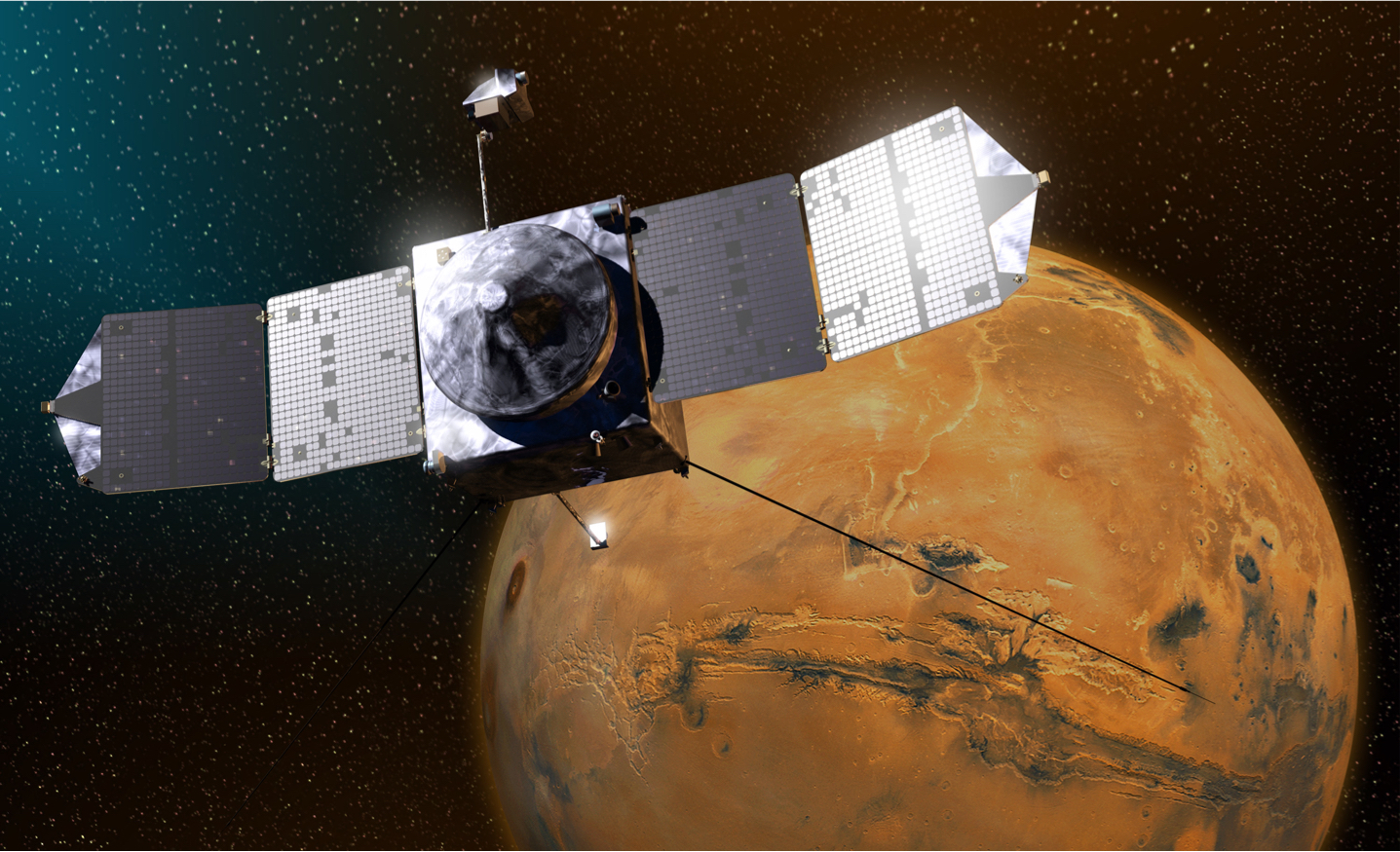 NASA manuevers MAVEN to prevent collision with Mars moon Phobos