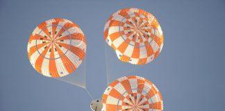 Nasa orion spacecraft Parachute test