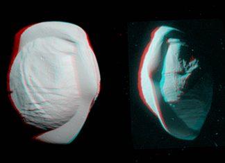 NASA Cassini captured 3D view of Saturn's moon PAN