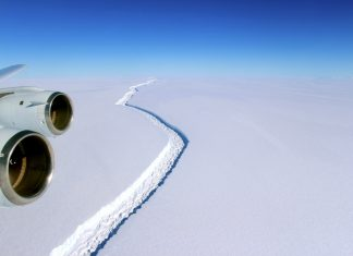 A trillion-ton iceberg, one of the biggest ever recorded, splintered off western Antarctica and is now floating at sea. Sometime between Monday, July 10, 2017 and Wednesday, July 12, a portion of an Antarctic ice shelf, the size of Delaware broke off.