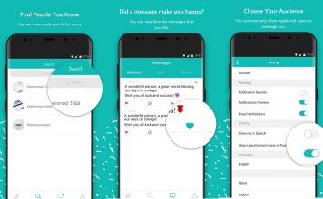 Sarahah application