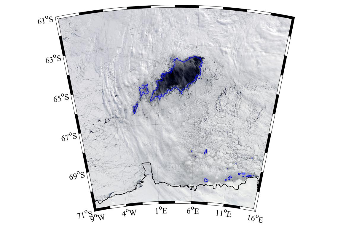 Gigantic hole in antartic ocean
