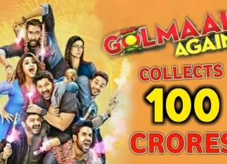 Golmaal again collects 100 crores