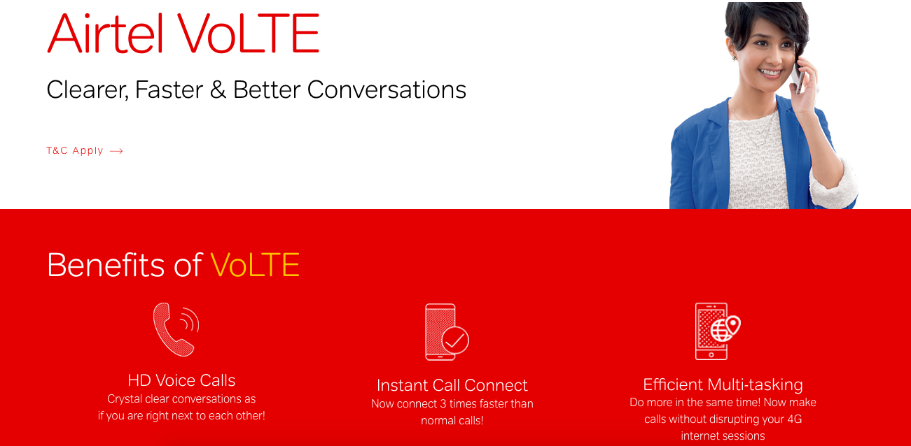 AIRTEL Launched its VOLTE services in Karnataka