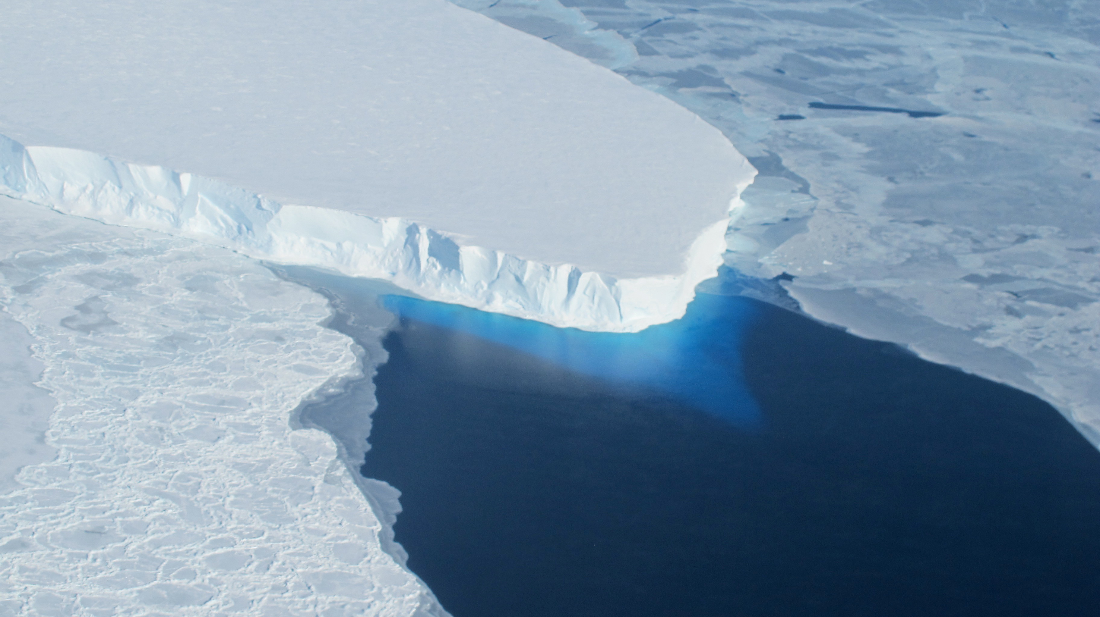 Antarctic ice sheet is melting which may cause global sea level rise