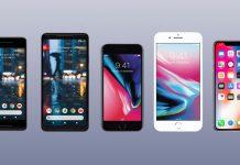 Apple iPhone X, iPhone 8, iPhone 8 Plus, Google Pixel 2 and Pixel XL