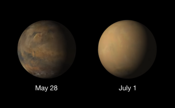 Colossal dust storm has engulfed the entire red planet in thick haze