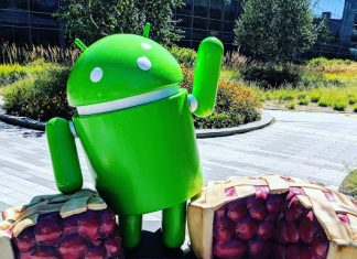 Android 9 Pie statue unveils at Google' Mountain View campus