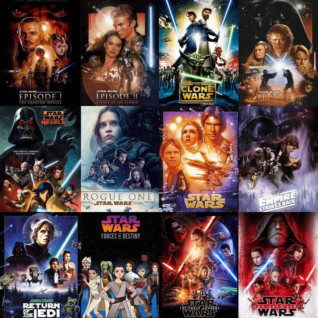 Star Wars series: Don't hop the package of Star Wars film series